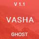 Vasha - Minimal Masonry Ghost Theme