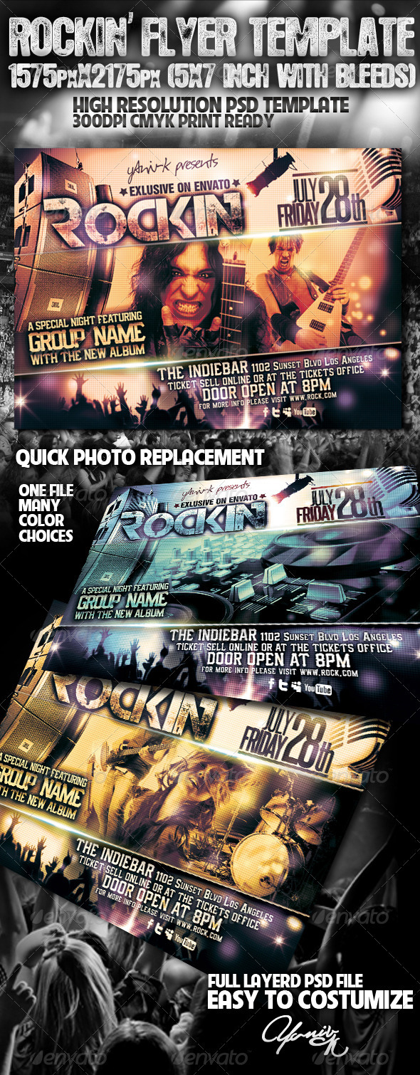 Rockin' Flyer Template - Flyers Print Templates