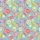 Vegetarian Watercolor Pattern