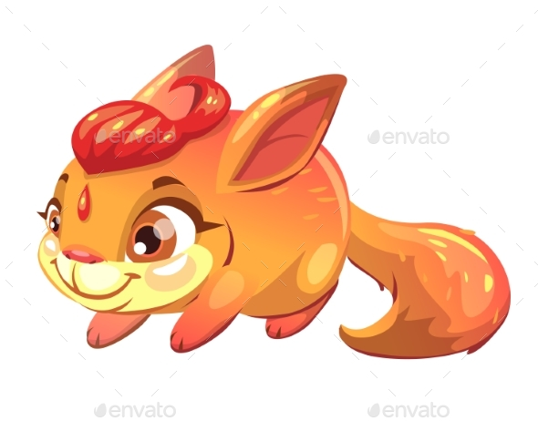 Funny Cartoon Fantasy Squirrel Pet