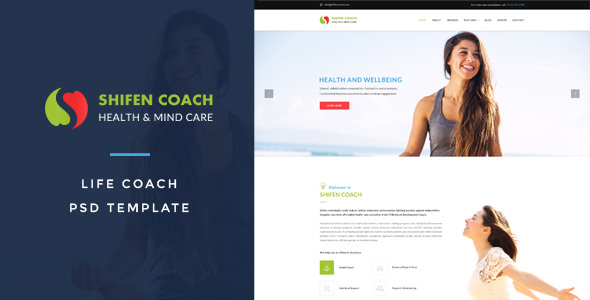 Life Coach Templates from ThemeForest