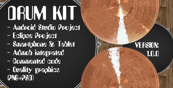 Drum Kit + Admob Ads (Android Studio + Eclipse)