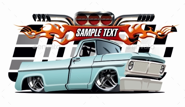 Vector Cartoon Lowrider