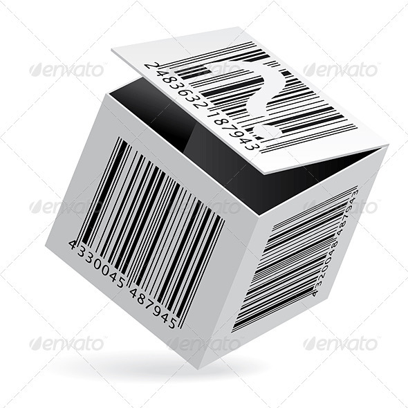 Bar code on box