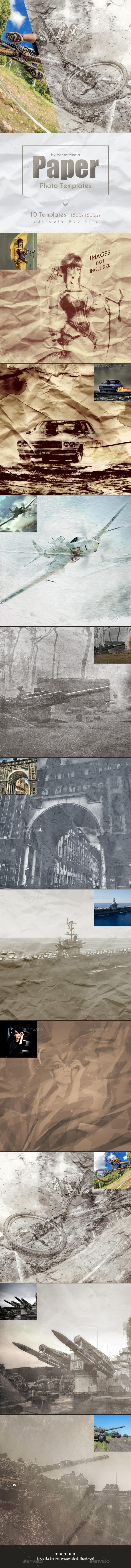Paper - Photo Templates (Artistic)