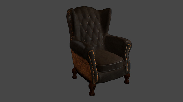 Complex Victorian Armchair - 3DOcean Item for Sale
