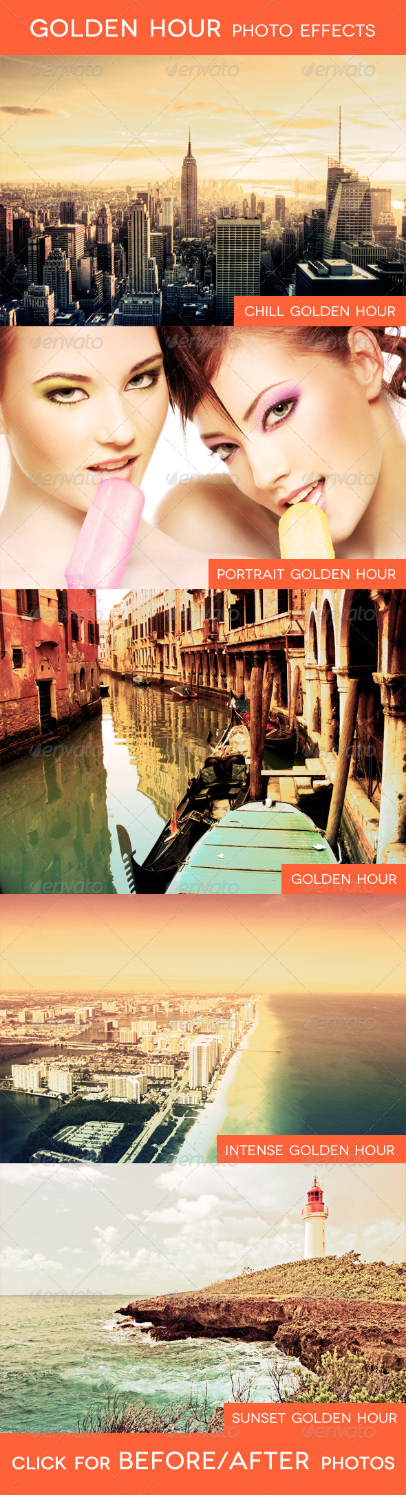 GraphicRiver Golden Hour Photo Effects 1708703