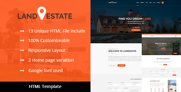 Land Estate - Real Estate/Properties HTML Template