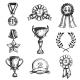 Download Vector Sketch Medal Design Icon Set