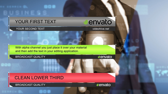 VideoHive Clean Lower Third 17442651