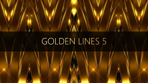 VideoHive Golden Lines 5 17442990