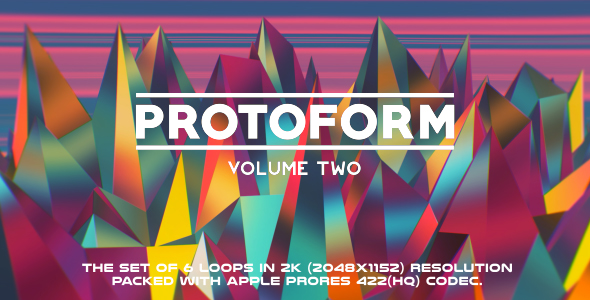 VideoHive Protoform Loops Volume Two 6 Pack 17443097