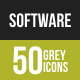 Software Development Greyscale Icons