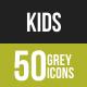 Kids Greyscale Icons