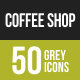 Coffee Shop Greyscale Icons