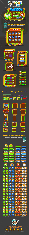 Cartoon Game Ui Pack 11 (User Interfaces)