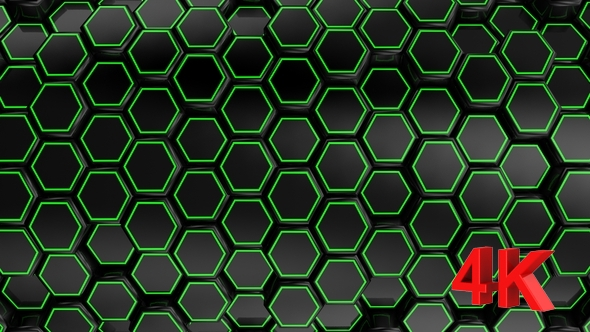 VideoHive Animated Black Honeycombs 17444017