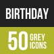 Birthday Greyscale Icons