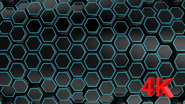 VideoHive Animated Black Honeycombs 17444026