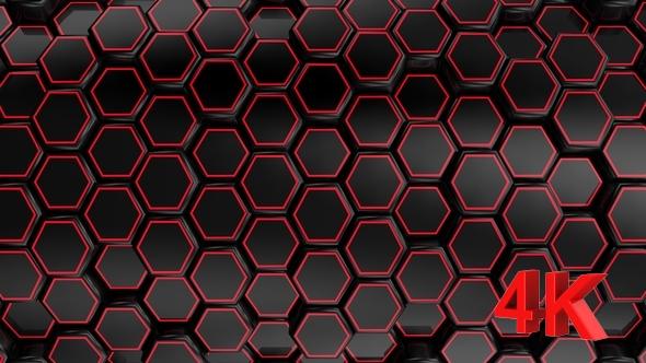 VideoHive Animated Black Honeycombs 17444044