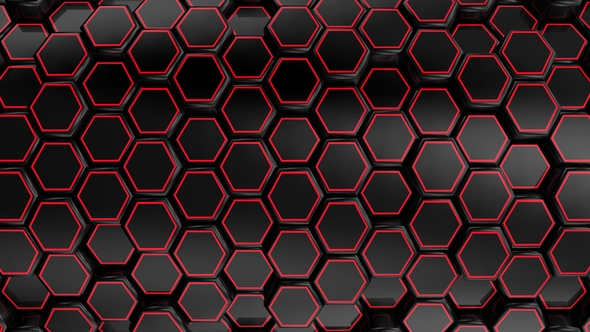 VideoHive Animated Black Honeycombs 17444050