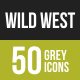 Wild West Greyscale Icons