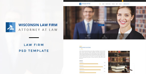 Wisconsin : Law Firm PSD Template
