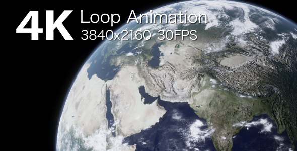 VideoHive Planet Earth Loop Animation 2 17445261