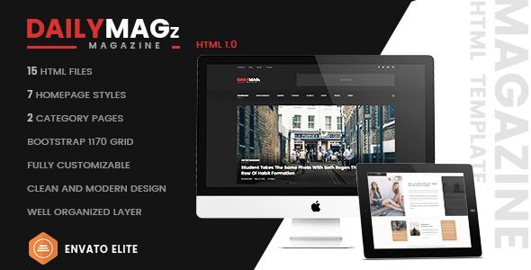 DailyMagz - News & Magazine HTML Template