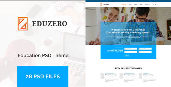 EDUZERO - Education PSD Template