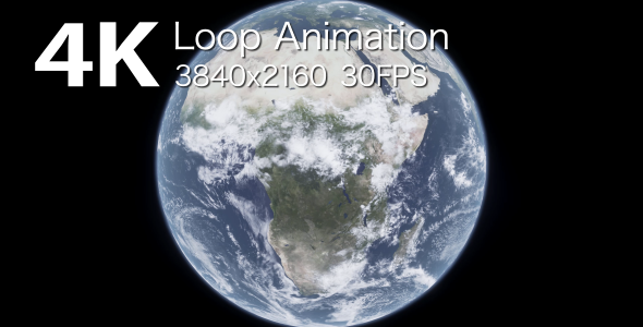 VideoHive Planet Earth Loop Animation 1 17446729