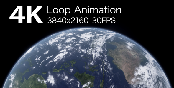 VideoHive Planet Earth Loop Animation 3 17447030