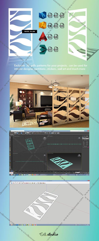 Waves 3d screen Pd_A08