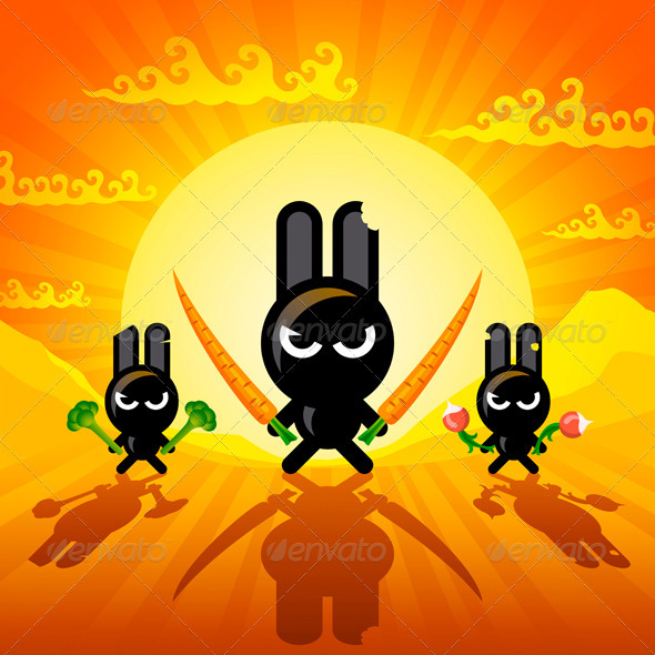 GraphicRiver Ninja Rabbits 1735500