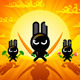 Ninja Rabbits - GraphicRiver Item for Sale