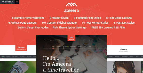 Download Ameera - Clean and Minimal WordPress Blogging Theme nulled download