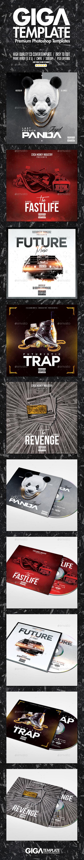 Cover Bundle   5 Urban Album CD Mixtape Template