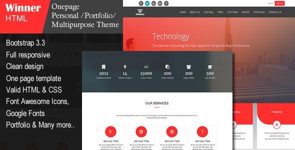 Winner - Creative Multi-Purpose HTML Template