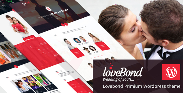 Image of LoveBond - Wedding and Wedding Planner WordPress Theme - Responsive and Elegant