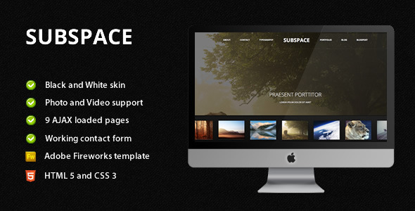ThemeForest Subspace Portfolio HTML5 Template 1735554