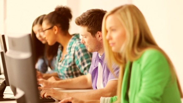 Download Students Making Computer Test At Informatics nulled download