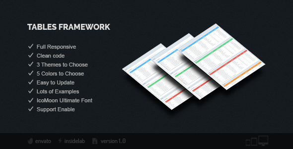Tables Framework