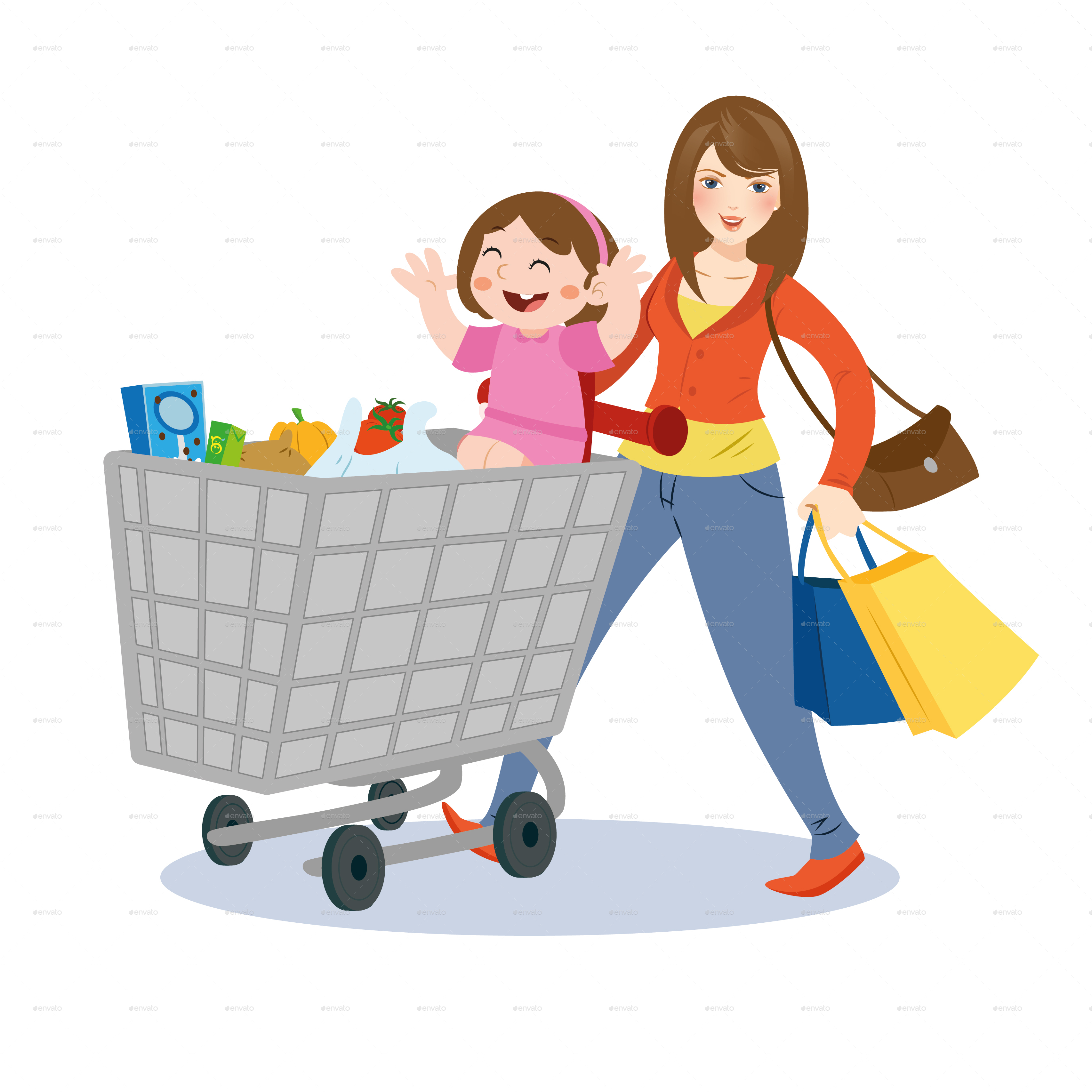 mom and child shopping by nael005 graphicriver