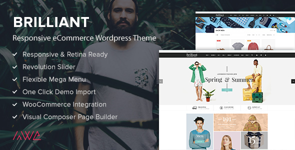 Brilliant - Responsive eCommerce WordPress Theme