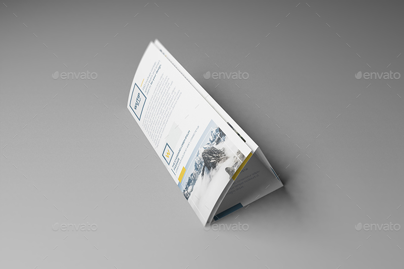 roll fold brochure template - four panel roll fold brochure mockups by wutip graphicriver