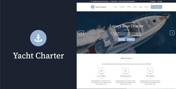 Yacht Charter - HTML Template