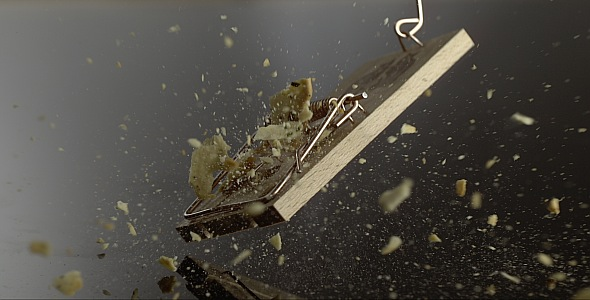 VideoHive Cracker is Falling on a Mousetrap 9842984