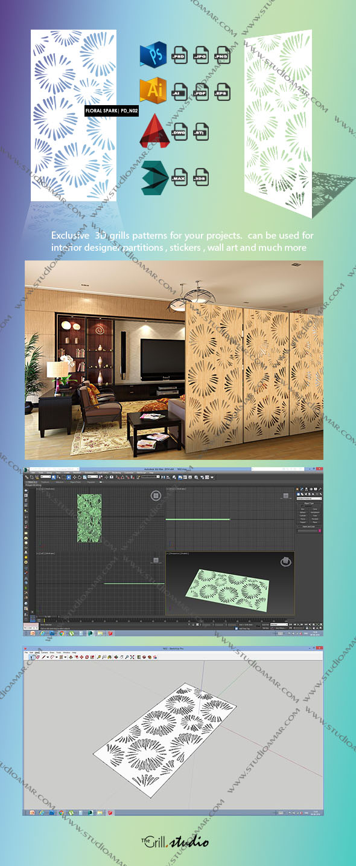 Floral sparak - PD- N02 (3d screen ) - 3DOcean Item for Sale
