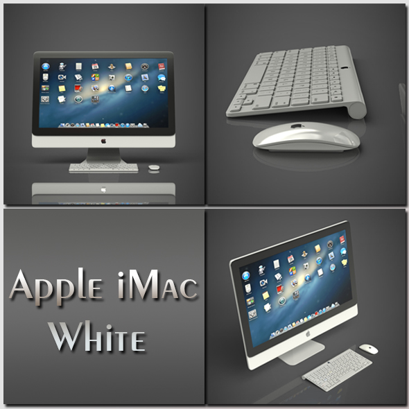 Apple iMac white - 3DOcean Item for Sale