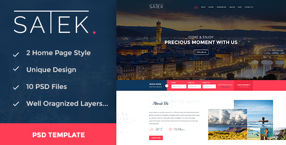 SATEK. - Hotel & Resort PSD Template